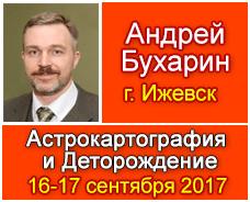 16 и 17 сентября 2017 года  состоится семинар Андрея Бухарина в Ижевске на темы